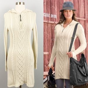 ATHLETA hut to hut cabled fisherman sweater dress